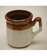 Stoneware Coffee Mug Tea Cup Paneled Vintage 1970's Tri-Color Unknown Maker - $16.82
