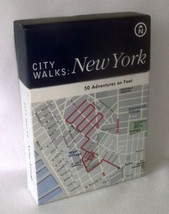 New York City Walks Flash Cards Adventures Foot Map History Day Trip Scr... - $9.85