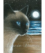 ACEO art print Cat #396 siamese by Lucie Dumas - $4.99