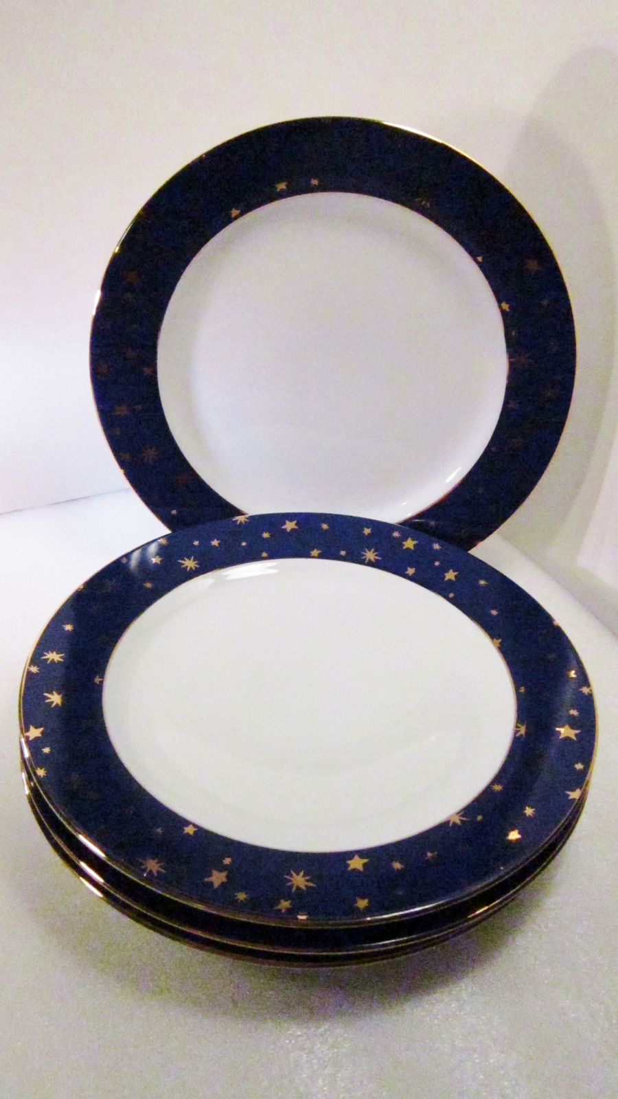 Sakura Galaxy Porcelain 4 Dinner Plates Gold and Blue & Sakura Galaxy Porcelain 4 Dinner Plates Gold and 10 similar items