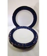 Sakura galaxy fine porcelain gold blue dinner plate 01 thumbtall