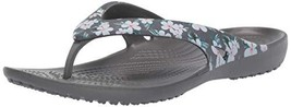 Crocs Women's Kadee II Seasonal Flip (6|Tropical Floral/Slate Grey) - $32.99