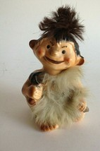 VTG Caveman in Fur Ceramic Figurine Hammer & Nail Man Cave of the Winds ... - $15.80