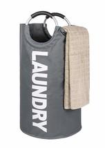 TOMHOM Large Laundry Basket Collapsible Fabric Laundry Hamper Foldable C... - $22.69