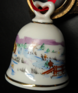 Reutter Bell Christmas Ornament Country Horse Drawn Sleigh Scene West Ge... - $6.99