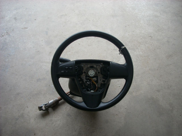 2010 MAZDA 3 BLACK STEERING WHEEL WITH RADIO CONTROLS