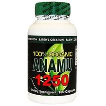 Anamu 1250mg 100% Organically Grown - 100 Capsules by Earth's Creation USA