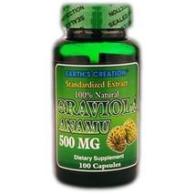 Graviola Anamu 500mg - 100% Natural - 100 Capsules by Earth's Creation USA