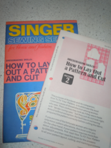 Vintage Singer Sewing Series How To Lay Out Pattern & Cut Dated 1972 - $2.99