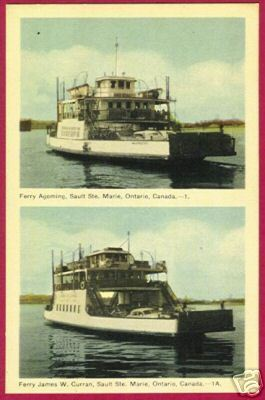 SOO ONTARIO Car Ferry Agoming James W Curran Ship