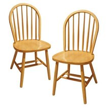 Furniture Wood Windsor Chairs Winsome Modern Natural Patio Dinning Set V... - £95.78 GBP