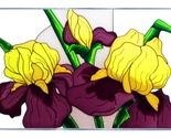 Stained glass iris yellow purple 20x14  v 292 thumb155 crop