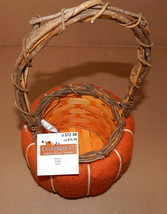 Harvest Halloween Wooden Weave Basket Panier Cesta Celebrate It Orange B... - $7.59