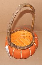 Harvest Halloween Wooden Weave Basket Panier Cesta Celebrate It Orange B... - $7.59