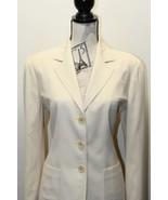 Vintage Saks Fifth Avenue Made in Italy Women Beige Blazer Looks Like XL... - $22.30