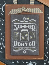 September A Year In Chalk series cross stitch chart Hands On Design - $5.00