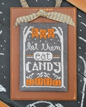 October A Year In Chalk series cross stitch chart Hands On Design - $5.00