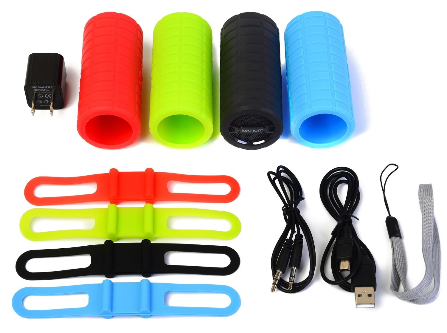 Ivation Bike Bluetooth Recharge Universal Speaker Sports Healthy Lifestyle MP3