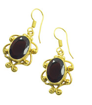 Red Gold Plated Fashion cute Ruby CZ gemstones Earring UK gift - $14.48