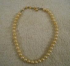 Vintage Cream Pearl Bead Choker  – 15 Inches - $9.79