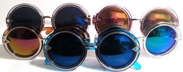 Large Round Double Ring Frame Multicolor Lenses Fashion Sunglasses - $8.49