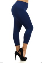 Seamless Plus Size Navy Capri Leggings XL  Yelete - $10.99