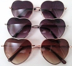 Heart Shape Sunglasses  Silver or Gold Metal Frame - $8.29