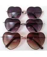 Heart Shape Sunglasses  Silver or Gold Metal Frame - $8.29