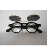Round Flip Smoked Steampunk Lennon Style Sunglasses Clear Lenses Assorte... - $8.98