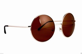 Large Round Sunglasses Full Metal  Frame Oversize Vintage Inspired - £6.81 GBP