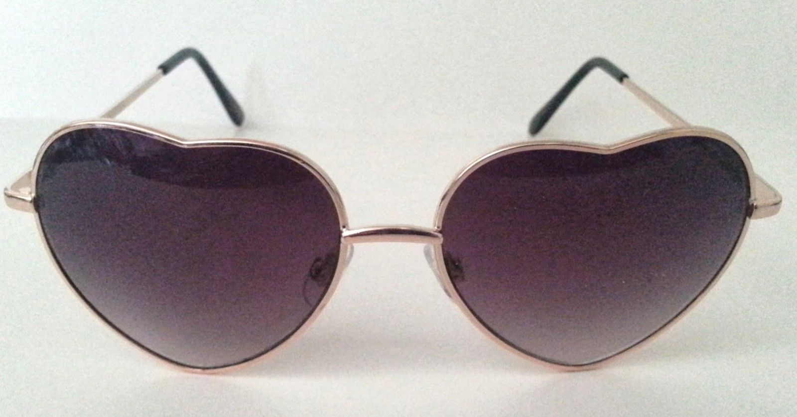Heart Shape Sunglasses  Silver or Gold Metal Frame