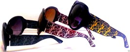 Large Round Sunglasses Italian Style Major Designer Overrun Assorted Colors - $6.74