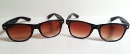 Wafarer Sunglasses Brown or Black Glossy Frame Gradient Lenses Spring Hi... - $7.29
