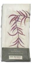 Kim Seybert Embroidered Branch Napkins - Set of 4 (Purple) - $29.75
