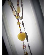 Lemon Jade  Heart with Citrine accents  - $47.00