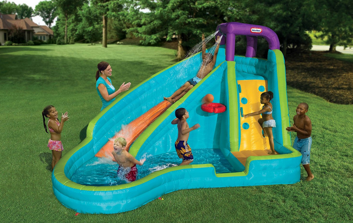 Inflatable Water Slide Kids Backyard Pool Fun Toys Bounce ...