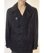 Ralph Lauren Black Label Men Waxed Denim Lined Peacoat Jacket Coat Italy... - $343.99