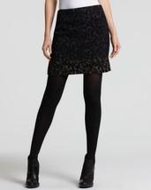 Elie Tahari Womens Molasses Alexis Black Wool Lined Animal Print Mini Skirt 14 - $71.99