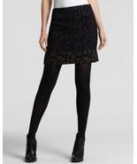 Elie Tahari Womens Molasses Alexis Black Wool Lined Animal Print Mini Sk... - $71.99