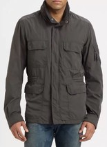 Diesel Jagarto Men's Charcoal Grey Hooded Military Field Jacket Coat S $348 - $111.99