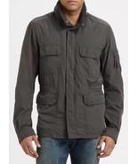 Diesel Jagarto Men's Charcoal Grey Hooded Military Field Jacket Coat S $348 - $111.99