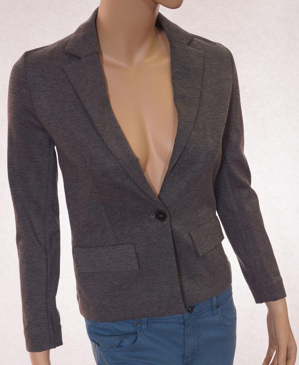 Lacoste VF5441-51 Womens Grey 1 Button Suit Jacket Blazer 2, EUR-34 - $71.99