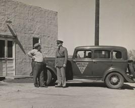 8x10 Vintage Photo Police Man Men California Cali  Vehicle Car depressio... - $12.06