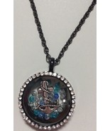 Necklace with Floating Anchor Swarovski Crystal Charms Pendant Jewelry Gift - $17.99
