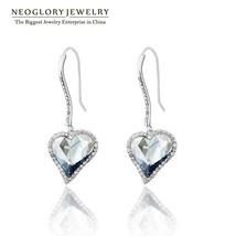 Neoglory MADE WITH SWAROVSKI ELEMENTS Rhinestone Love Dangle Earrings Gi... - $22.67