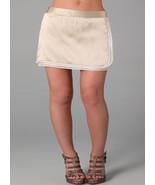 Alice + Olivia Womens Silk  Nude Beige Patsy Smocked Tiered Mini Skirt L... - $63.99