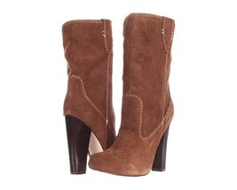 MIA Excursion Womens Brown Rust Suede Leather Ankle Boots-10 - $39.99