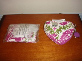 Vera Bradley Julep Tulip Sweetheart Coin Purse And Snap Card Case - $36.99