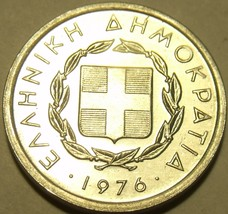 GREECE UNC 1976 10 LEPTA~1ST YEAR EVER MINTED~FREE SHIP - $3.62