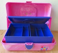 Vintage Caboodles 2-Tier Pink & Purple Retro Ma... - $44.95